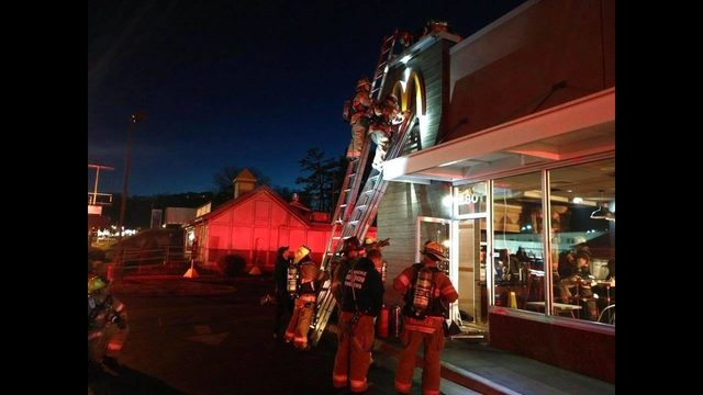 Crews investigating fire at Roanoke McDonald's