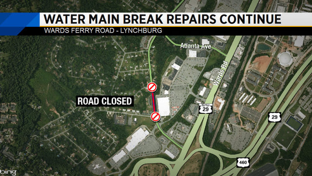 Lynchburg road closed for repairs