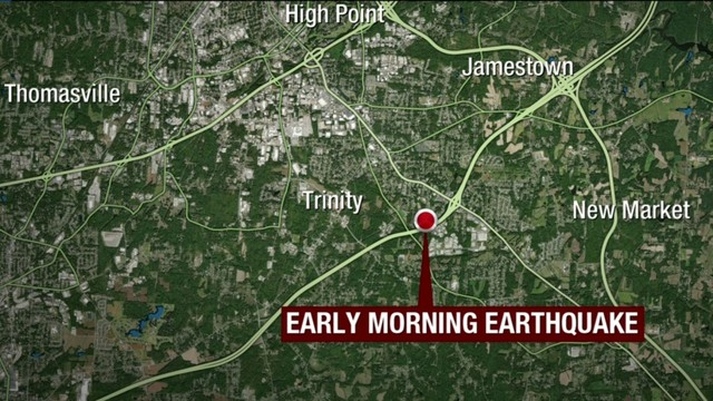 North Carolina hit with 2.6 earthquake