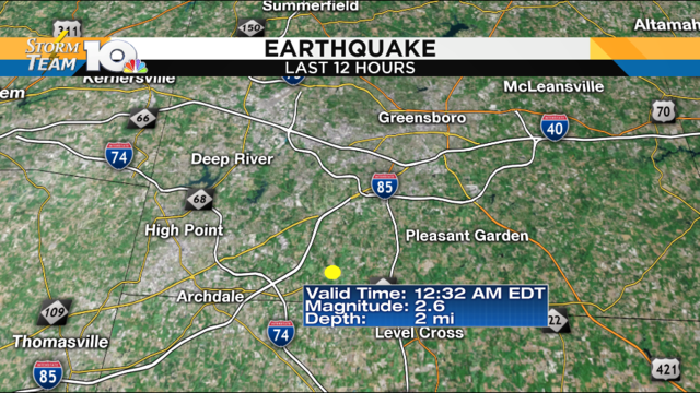2.6 magnitude earthquake hits North Carolina