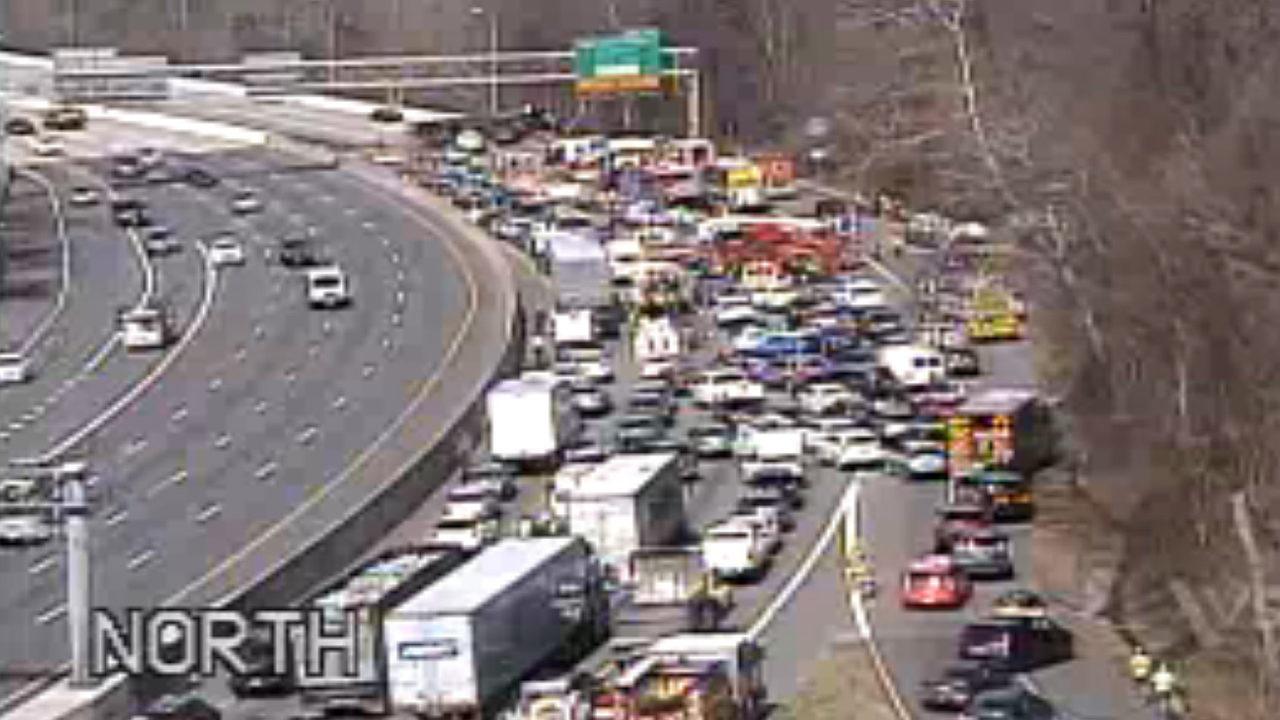 Inner loop of DC Beltway partially open after tanker truck crash