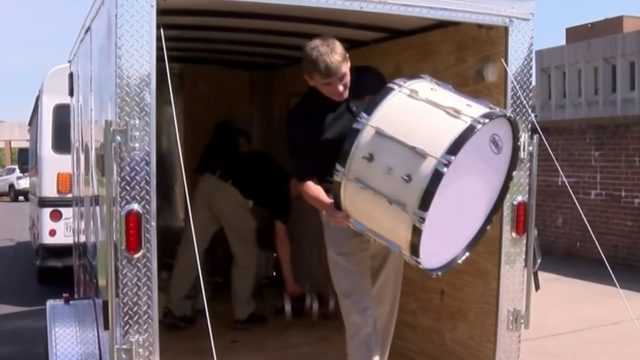 Bonner Middle School Drum Corp. receives new instruments