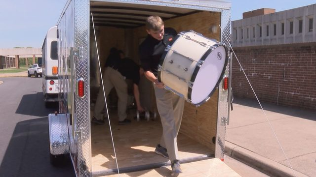 Instruments donated to Bonner Middle School drum corps