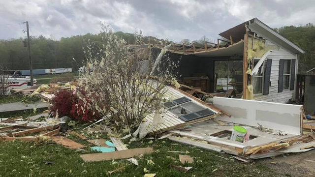 Storms destroy Franklin County home