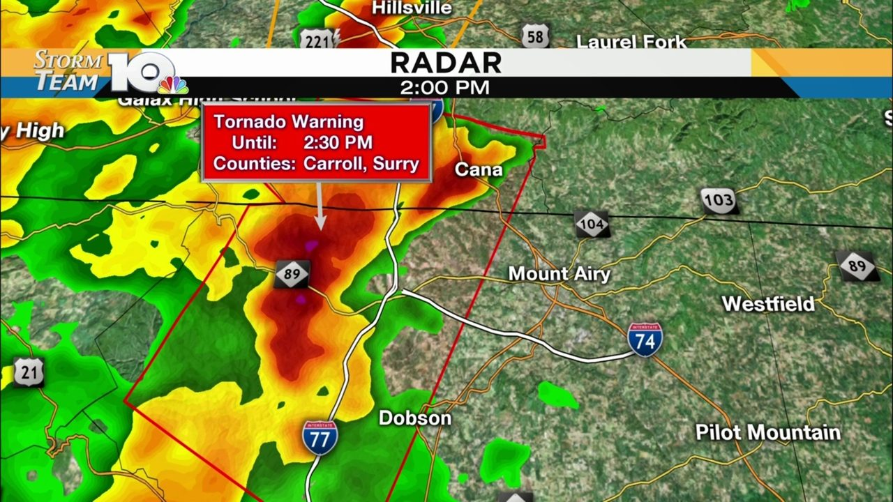 Tornado Warning issued for parts of Carroll County