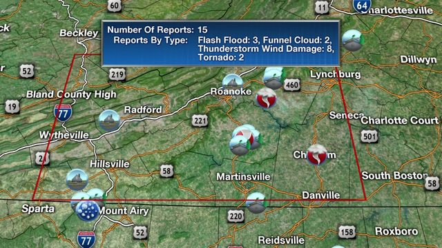 Tornado Warnings all expired for central, southwest Virginia