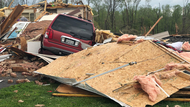 Franklin County home destroyed by severe storms