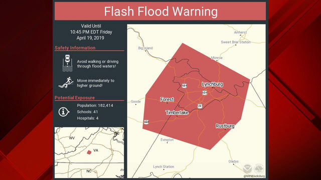 National Weather Service issues Flash Flood Warning for Lynchburg area