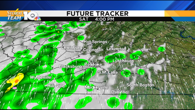 Breezy and cooler with afternoon showers