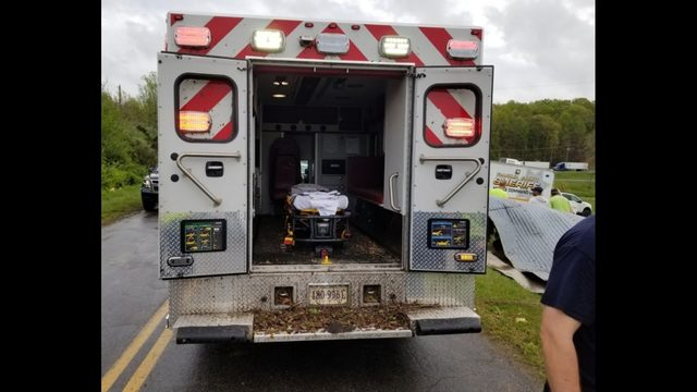 First responders recall terrifying moment tornado hit ambulance