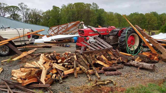 NWS determines straight-line wind damage in Halifax County