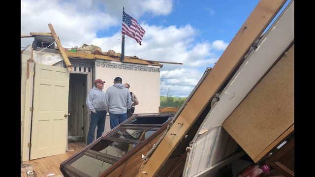 National Weather Service surveys Franklin County tornado damage