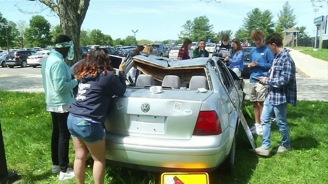 Christiansburg High School students learn impacts of unsafe driving