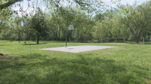 Outdoor basketball courts in Danville resurfaced