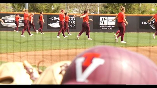 Hokies softball diamond shining bright