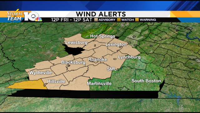 Scattered storms, turning windy Friday