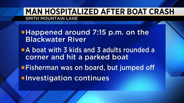 Man hospitalized after Smith Mountain Lake boat crash