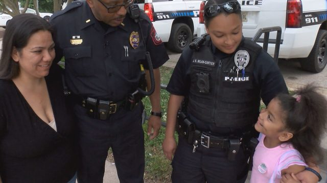Danville police officers attend birthday party for 6-year-old