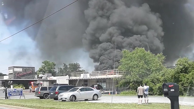 Crews on scene of fire at Amherst County shopping center