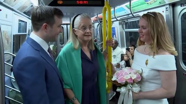 Two U.S. Army captains wed on New York City subway train