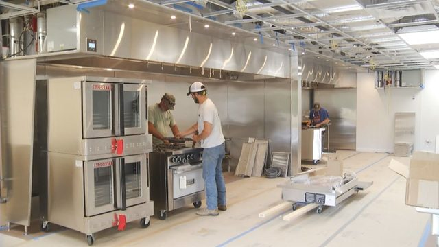 Commercial kitchen space in Blacksburg close to opening