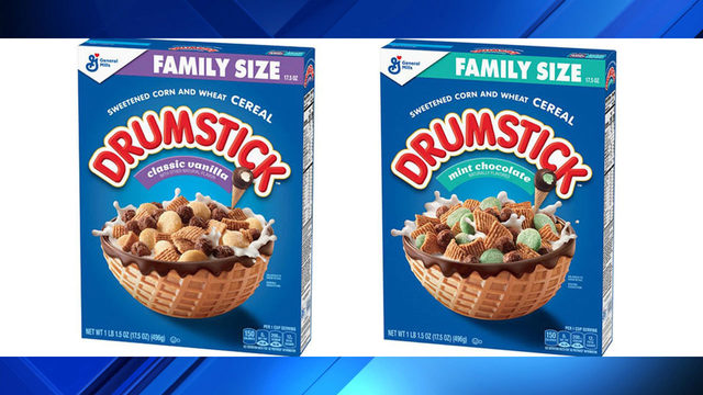 General Mills introduces Drumstick Cereal in vanilla, mint chip flavors