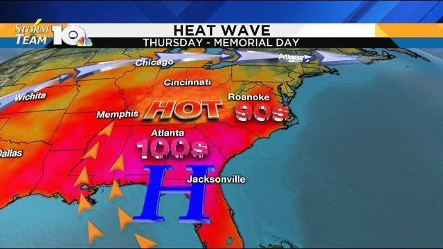 Heat wave for Memorial Day Weekend