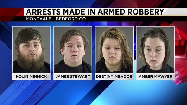 Two 18-year-olds, two 19-year-olds arrested after armed robbery at…