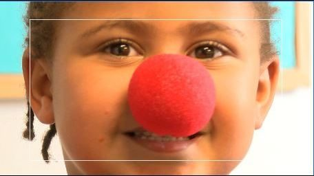 Volunteers with Park View Mission wear red nose for child hunger awareness