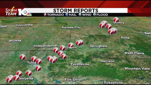 Tornadoes tear through the heartland Wednesday night