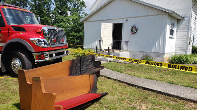 'Suspicious' fire damages Franklin County church built in 1800s