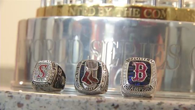 Red Sox bring World Series trophy to Carilion Children's Hospital