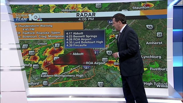 Stay up-to-date on Friday's severe weather
