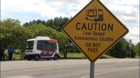 VT Transportation Institute tests self-driving shuttle