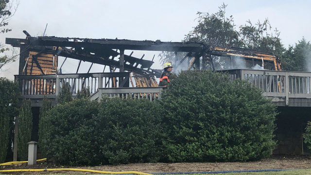 Bedford County house engulfed in fire
