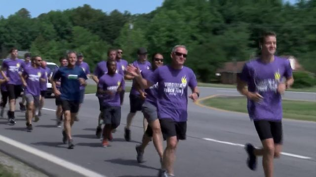 Southside officers, deputies light the way with torch run for Special Olympics