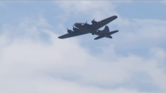 U.S. Air Force flies over National D-Day Memorial in Bedford for 75th…