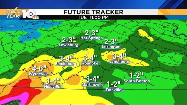 Waves of heavy rain through early next week, flooding possible