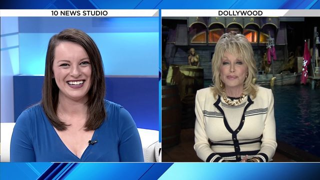 Dolly Parton talks to 10 News about new pirate attraction in Pigeon Forge