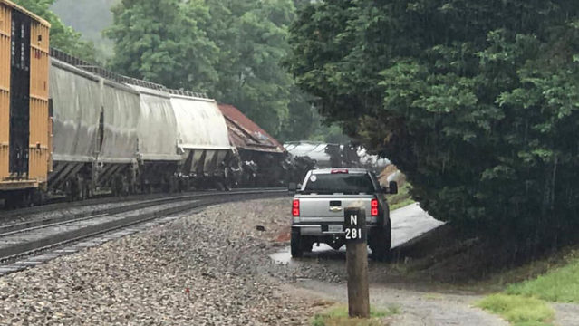 Cause of train derailment in Montgomery County remains under investigation