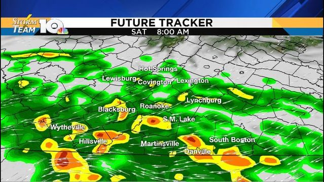 Rounds of rain through the weekend