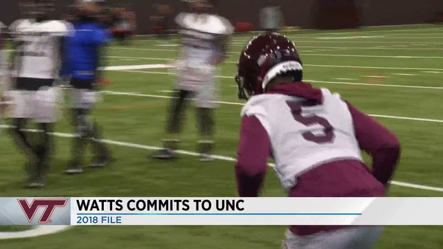 Hokies' Bryce Watts commits to UNC