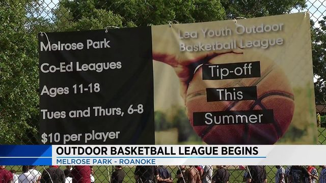 Roanoke tips off for fifth annual Lea Youth Outdoor Basketball League