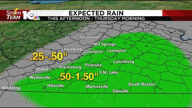 Dry, pleasant start Wednesday, rain returns later in the day