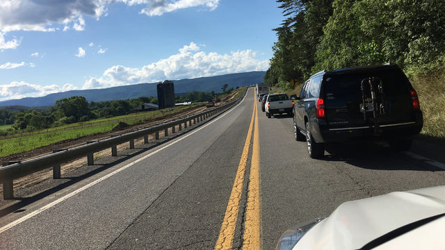 Construction worker hospitalized in crash that shut down 220 in Botetourt County