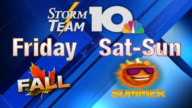 Changing Seasons: A fall feel Friday to summer Saturday, Sunday