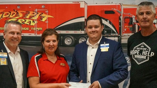 Walmart gifts God's Pit Crew $5,000 for Blessing Bucket program