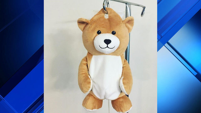 12-year-old girl with autoimmune disease creates teddy bear to hide IV bag