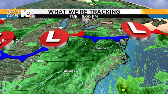 Daily shot of showers, storms forecast through Thursday