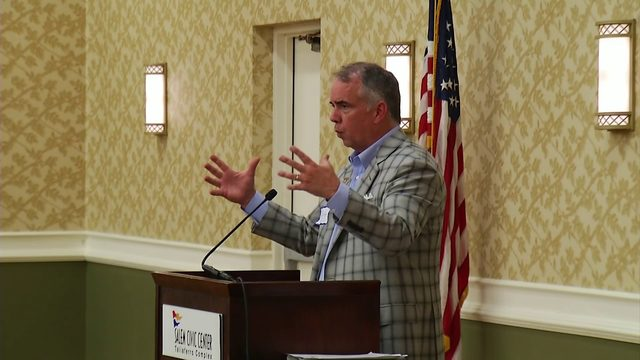 Virginia Tech Men's Basketball Head Coach Mike Young makes appearance at…